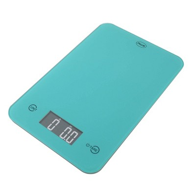 American Weigh Scales  Onyx-5K Tempered Glass Kitchen Scale Turquoise