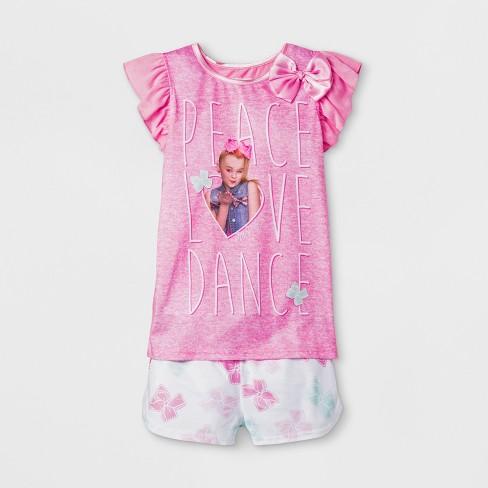 7f378e527 Girls  JoJo Siwa 2pc Pajama Set - Pink   Target