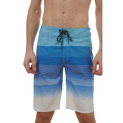 Distortion Men's 10'' Printed Stripe Board Shorts Parent