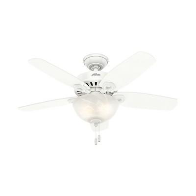 42  Builder Small Room Snow LED Lighted Ceiling Fan White - Hunter Fan