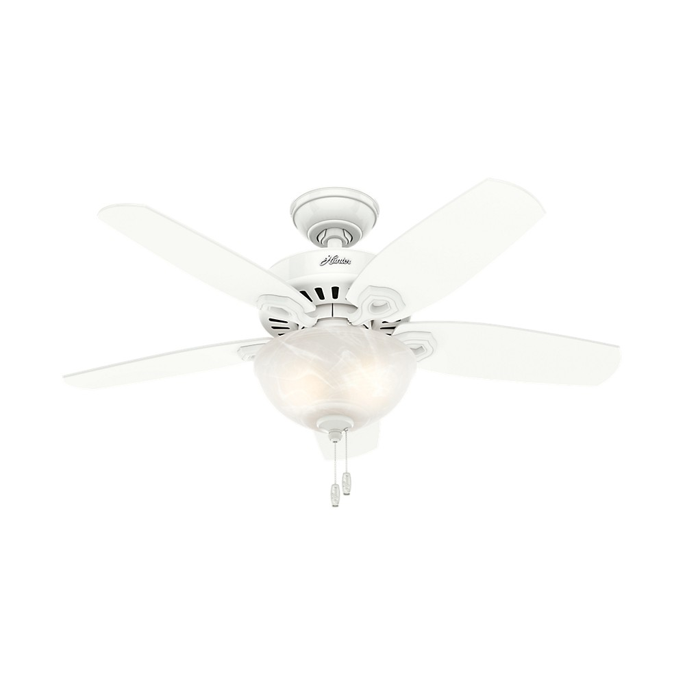 "Image of ""42"""" Builder Small Room LED Lighted Ceiling Fan Snow White - Hunter Fan"""