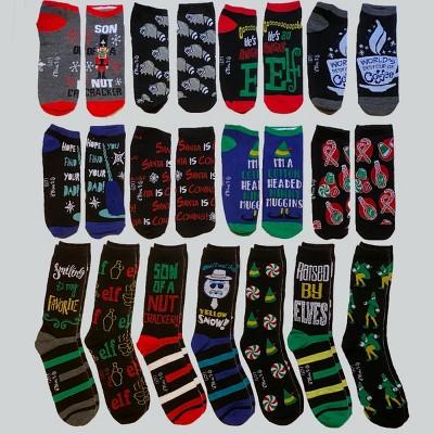 Men's Elf 15 Days of Socks Advent Calendar 15pk - 6-12