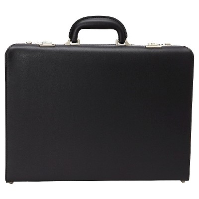 heritage vinyl single compartment computer business attaché case