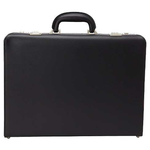 "Heritage Vinyl Single Compartment Computer Business Attaché  Case With Secure Combination Lock Closure - Black (17.3"") - image 1 of 6"