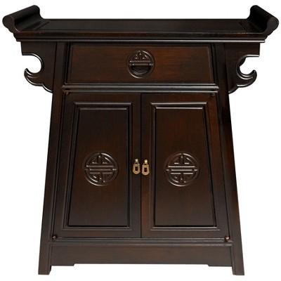 Rosewood Altar Cabinet Dark Chestnut - Oriental Furniture