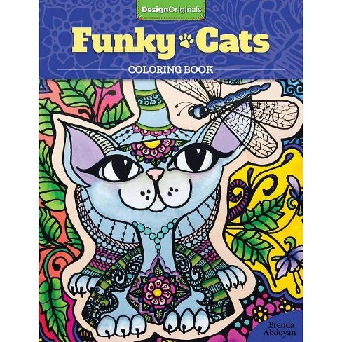 Funky Cats Coloring Book - by  Brenda Abdoyan (Paperback) - image 1 of 1