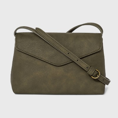 Envelope Snap Closure Crossbody Bag - Universal Thread™ Olive Green