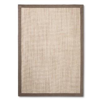 Tan Solid Woven Area Rug - (5'X7') - Threshold™