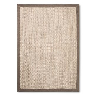 5'X7' Solid Woven Boarder Area Rug Tan - Threshold™