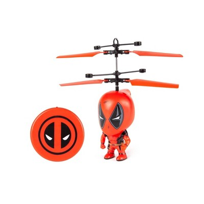 "World Tech Toys Marvel Deadpool 3.5"" Flying Figure IR Helicopter"