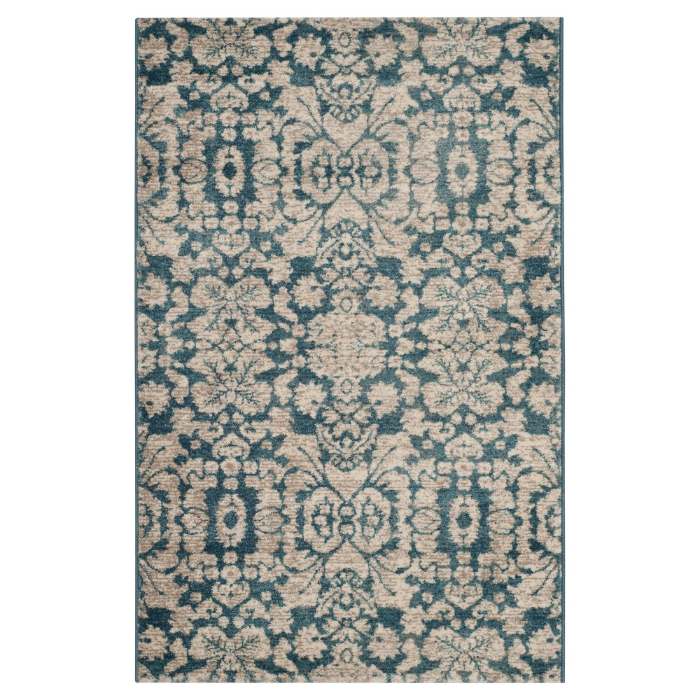 Blue Beige Abstract Loomed Accent Rug 3 39 X5 39 Safavieh