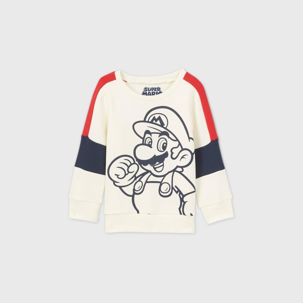 Toddler Boys 39 Mario Fleece Pullover Cream 18m