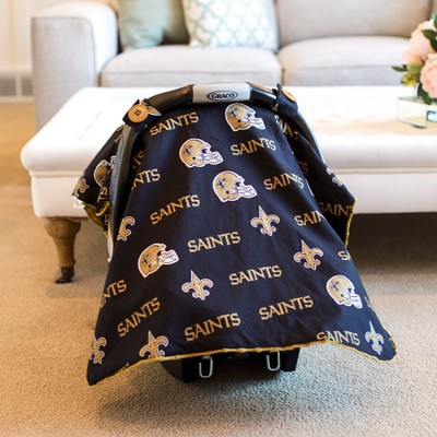 New Orleans Saints Carseat Canopy