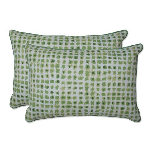 2pc Outdoor/Indoor Alauda Over-Sized Rectangular Throw Pillow Grasshopper Green - Pillow Perfect - image 1 of 1