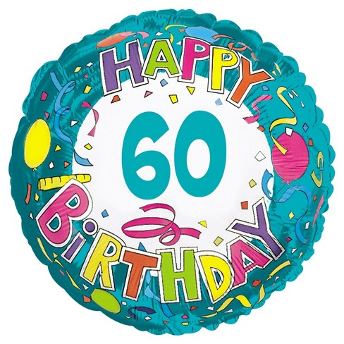 Happy Birthday 60 Mylar Balloon - image 1 of 1