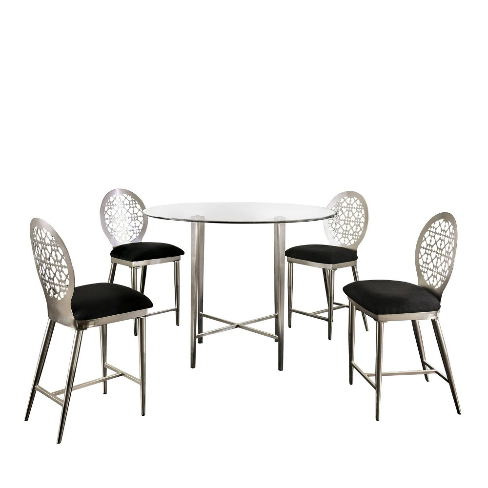 Compare 5pc Chalee Counter Height Dining Set Silver - miBasics