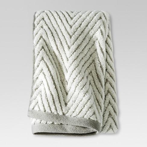 Chevron Textured Hand Towel Creamgray Threshold Target