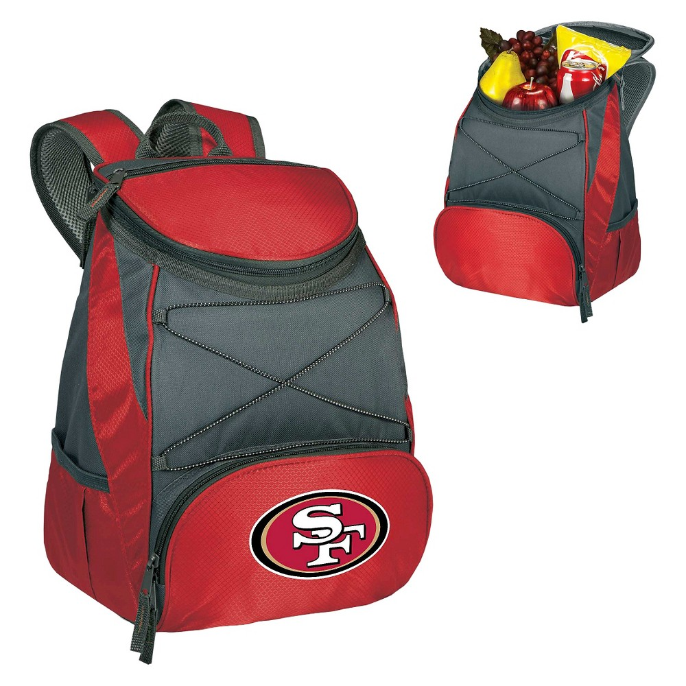 San Francisco 49ers Ptx Backpack Cooler by Picnic Time - Red