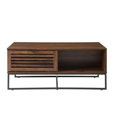 """42"""" Modern Slat Door Coffee Table - Saracina Home"""