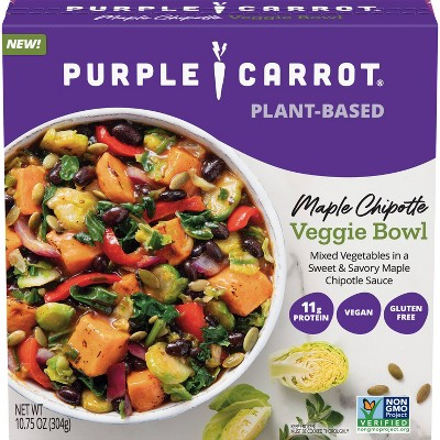 Purple Carrot Gluten Free and Vegan Frozen Maple Chipotle Veggie Bowl - 10.75oz