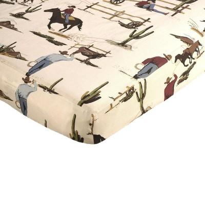 Sweet Jojo Designs Wild West Fitted Crib Sheet - Print
