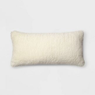 Faux Sheepskin Oversize Lumbar Pillow Cream - Threshold™