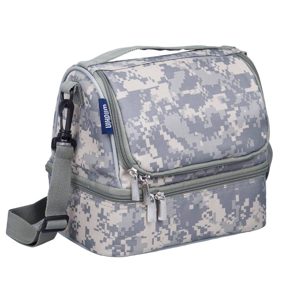 Wildkin Dual Compartment Lunch Bag Digital Camo