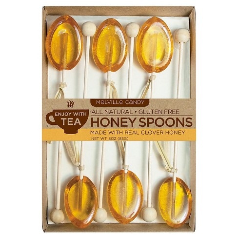 Melville Candy Company Clover Honey Spoons Lollipops - 18ct - image 1 of 1