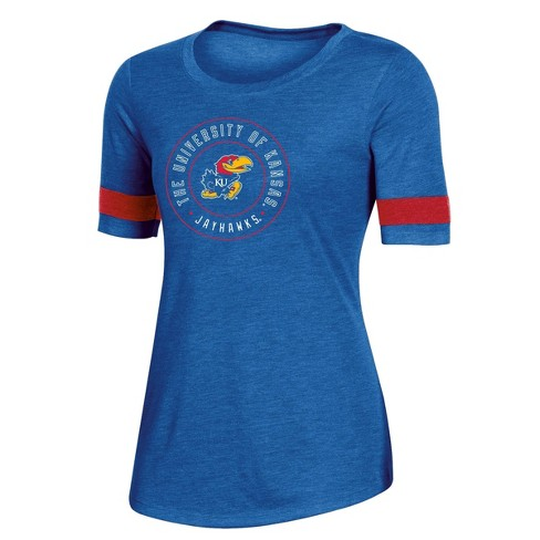 NCAA Kansas Jayhawks Women's Short Sleeve Crew Neck T-Shirt - image 1 of 2