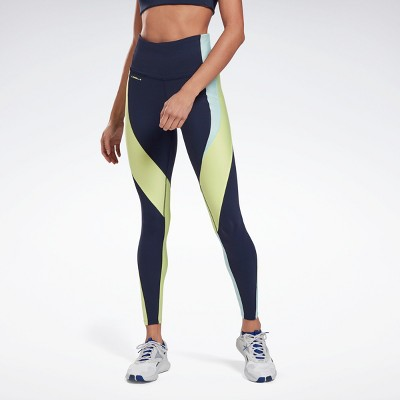 Reebok Les Mills® High-Rise Colorblock Lux Leggings Womens Athletic Leggings