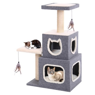 Cat-Life Duplex Cat Lounge w Lounging Tower and Scratching Posts from Penn-Plax