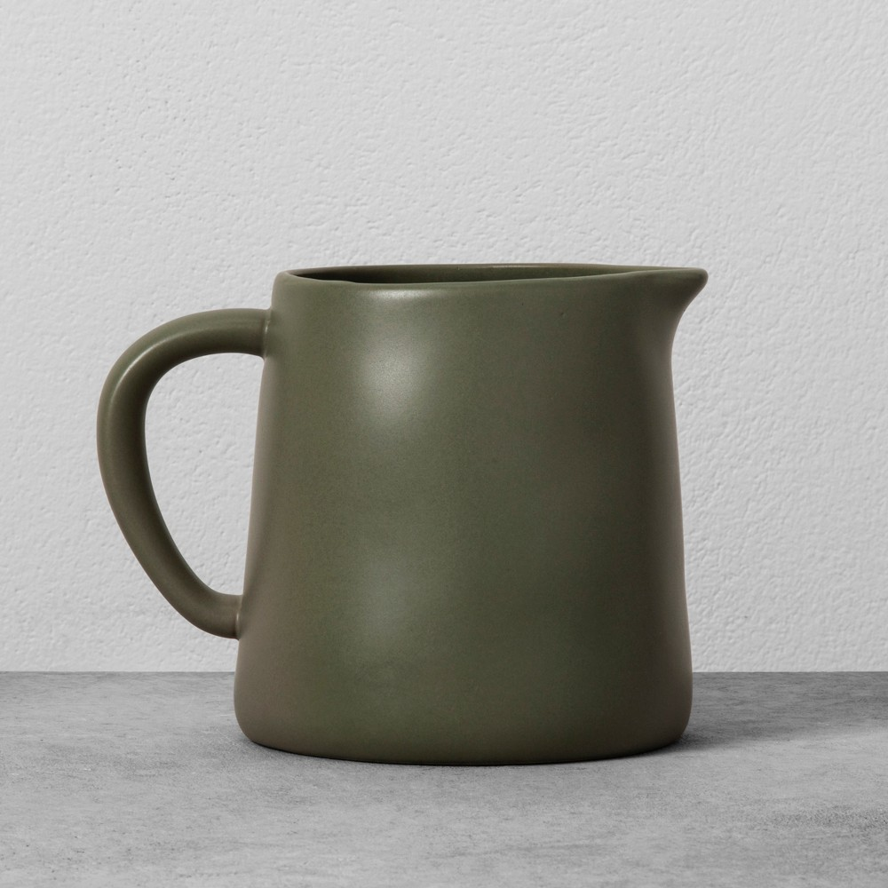 Stoneware Pitcher - Green - Hearth & Hand with Magnolia