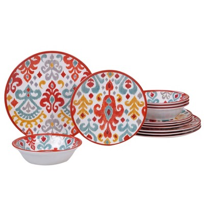 12pc Melamine Bali Dinnerware Set - Certified International