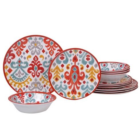 12pc Melamine Bali Dinnerware Set - Certified International - image 1 of 1