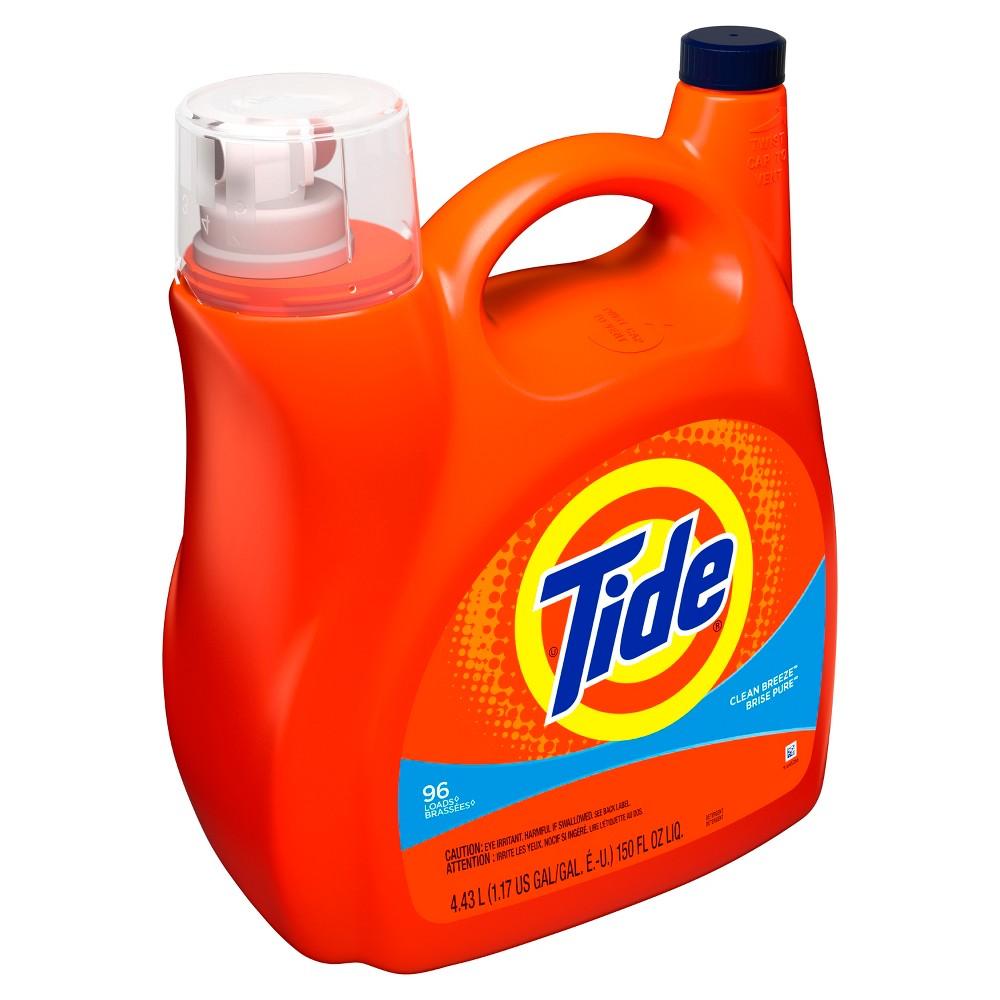 Tide Clean Breeze Liquid Laundry Detergent - 150 fl oz