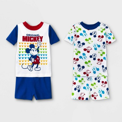 Toddler Boys' 4pc Mickey Mouse & Friends Pajama Set - White