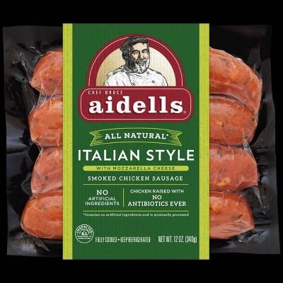 Aidells Italian Style with Mozzarella Cheese Smoked Chicken Sausage - 12oz/4pk