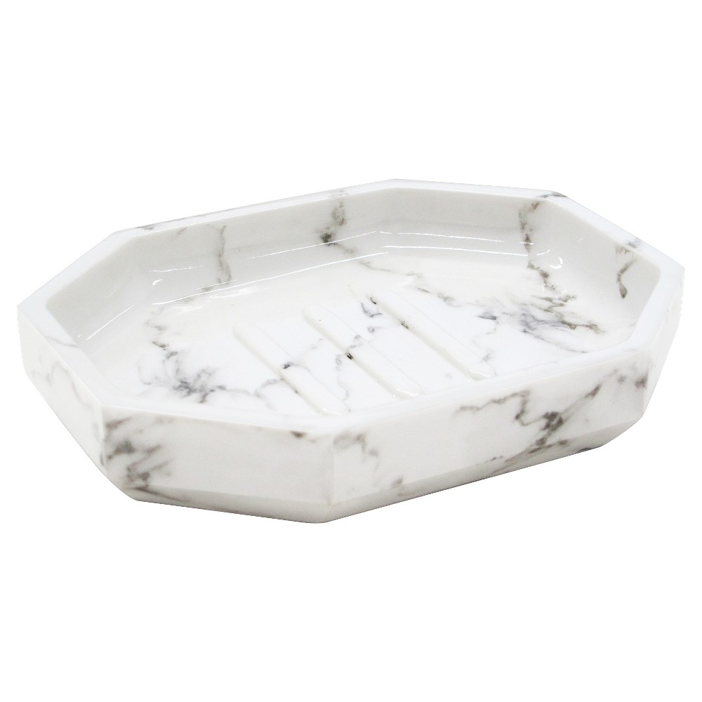Image of Facet Soap Dish Marble - Allure Home