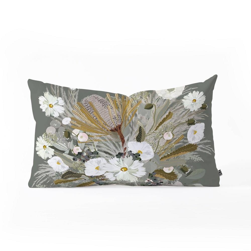 Iveta Abolina Aspen Sage Oblong Lumbar Throw Pillow Green Deny Designs