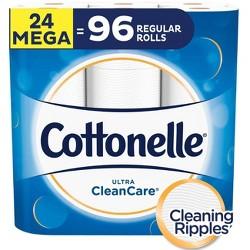 Cottonelle Clean Care Toilet Paper 1 Ply Sheet - 24 Mega Rolls