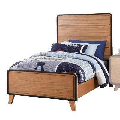 Full Carla Bed Oak Brown/Black - Acme Furniture