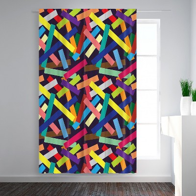 Americanflat Confetti By Joe Van Wetering Blackout Rod Pocket Single Curtain Panel 50x84 Target