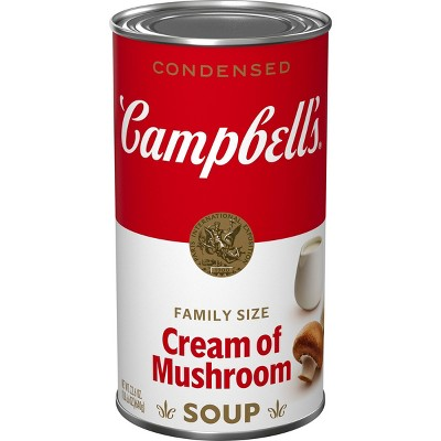Campbell's Condensed Family Size Cream of Mushroom Soup - 22.6oz