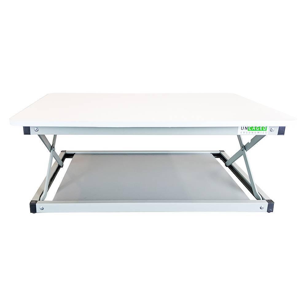 Change Desk Mini Standing Desk Riser White Uncaged Ergonomics