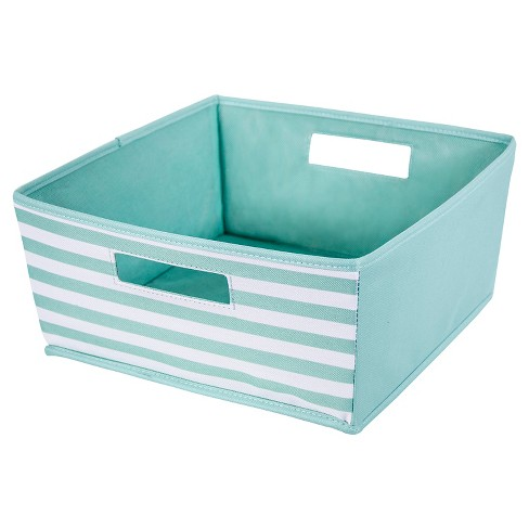 Fabric Half Bin Aqua Stripe - ITSO™ - image 1 of 1