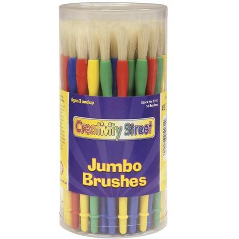Creativity Street Jumbo Paint Brushes, Assorted Colors, set of 58 - image 1 of 1