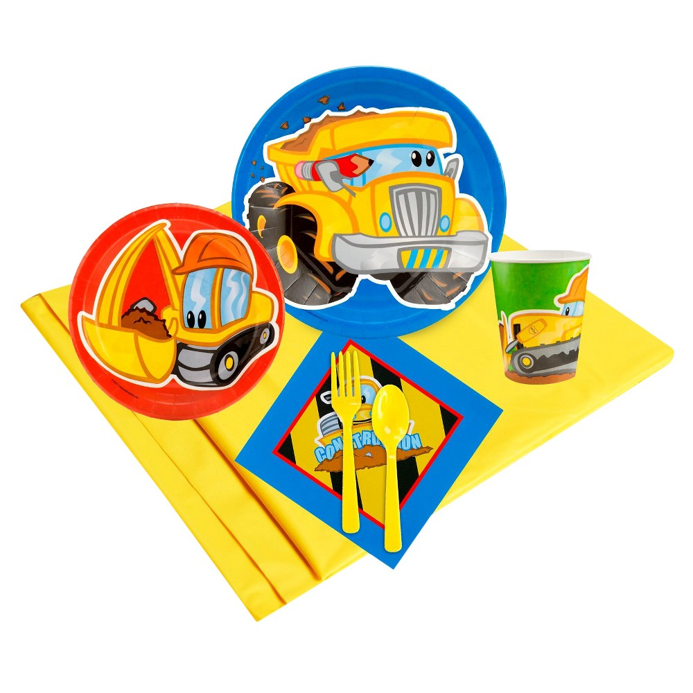 Image of Construction Pals 24 Guest Yellow Party Pack