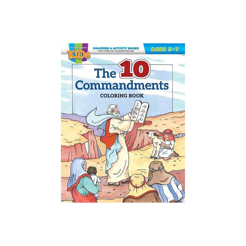 Kid Fam Ministry Color And Act Bks General The Ten Commandments 5 7 Paperback