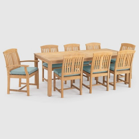 Milo Espresso 9pc SolarFast Patio Dining Set  - RST Brands - image 1 of 4