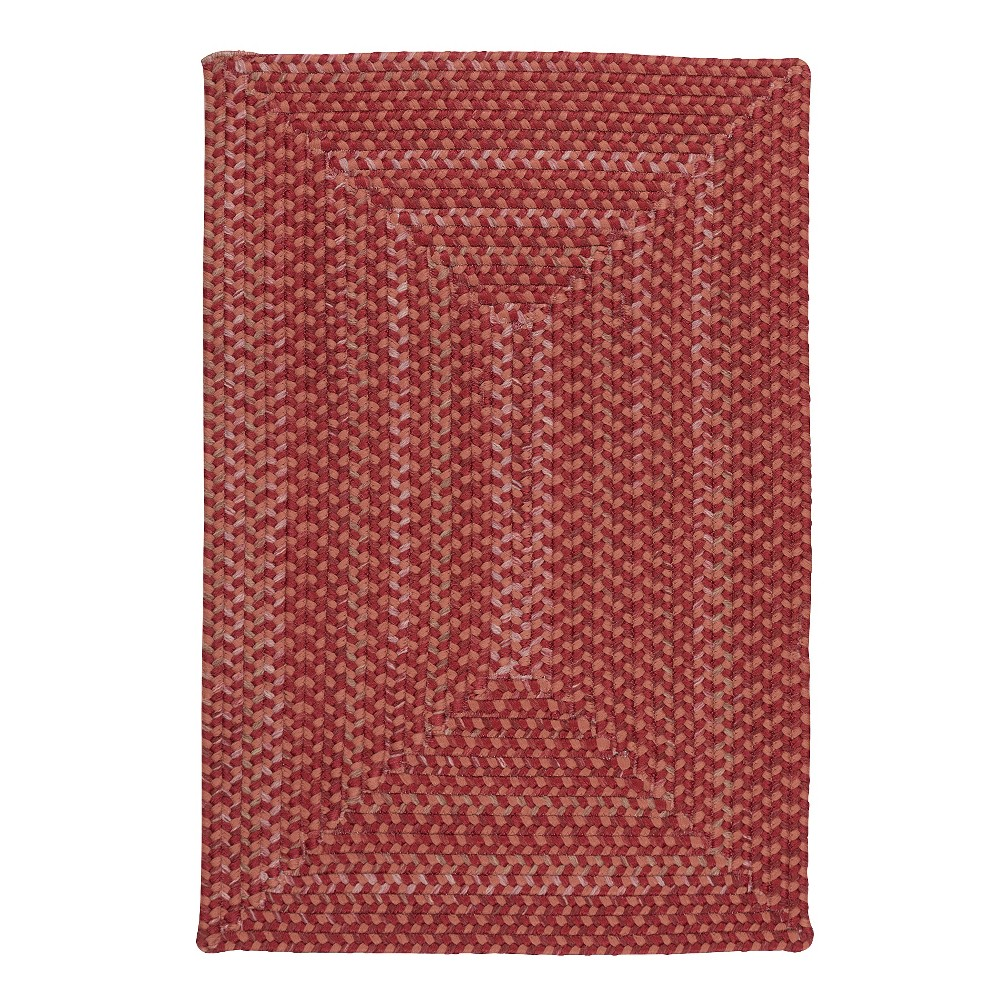 8'X10' Fleck Braided Area Rug Red - Colonial Mills